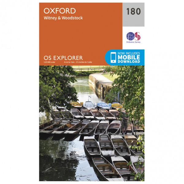 Ordnance Survey - Oxford - Vandrekort