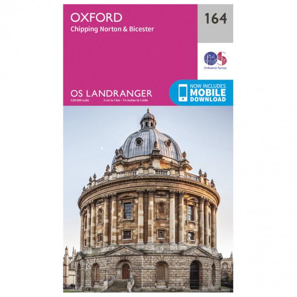 Ordnance Survey - Oxford / Chipping Norton / Bicester L164 - Wanderkarte