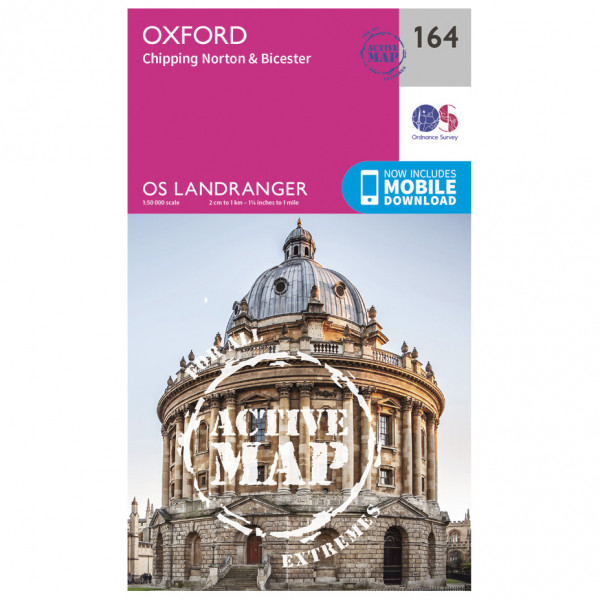 Ordnance Survey - Oxford / Chipping Norton / Bicester Waterproof - Hiking map