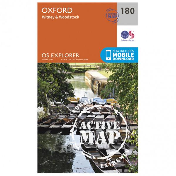 Ordnance Survey - Oxford / Witney / Woodstock Waterproof - Wandelkaarten