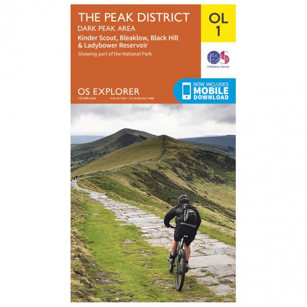 Ordnance Survey - Peak District - Dark Peak Area Outdoor - Vandrekort