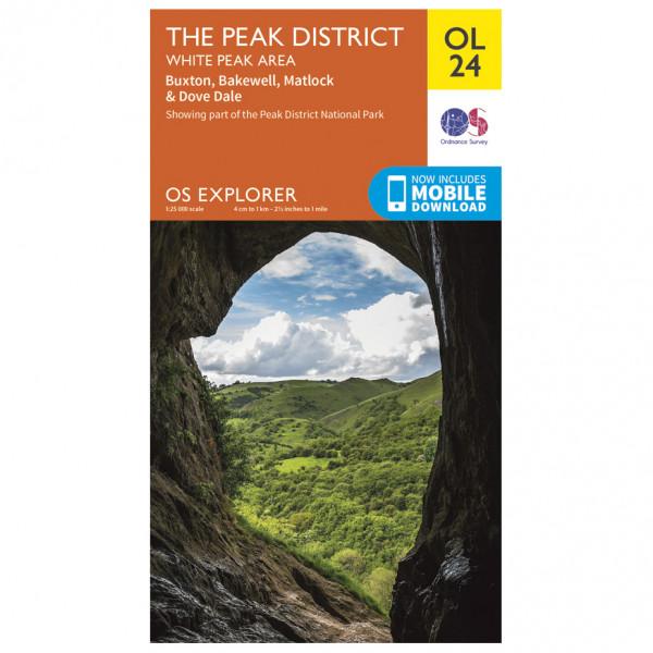 Ordnance Survey - Peak District - White Peak Area Outdoor - Vaelluskartat