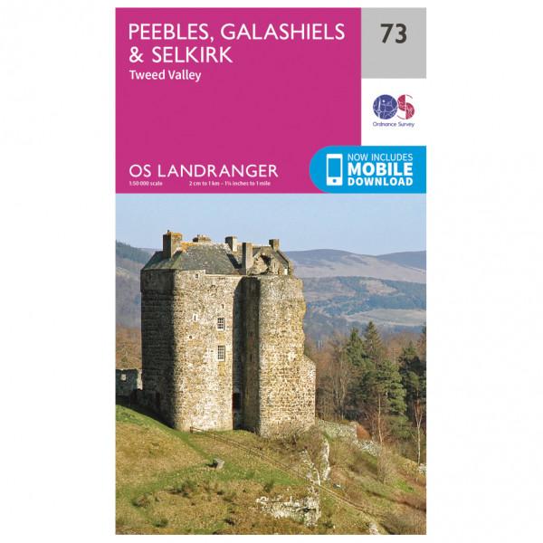 Ordnance Survey - Peebles / Galashiels / Selkirk - Vaelluskartat