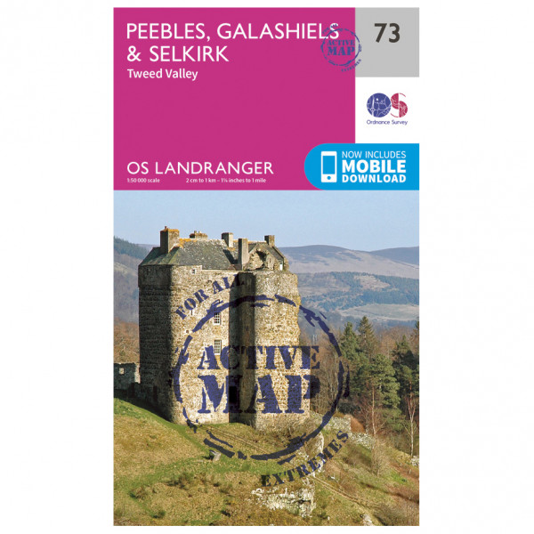 Ordnance Survey - Peebles / Galashiels / Selkirk Waterproof - Hiking map