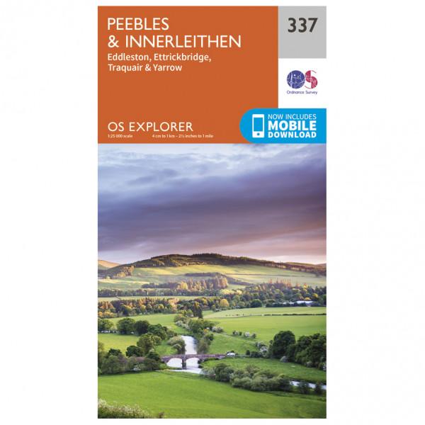 Ordnance Survey - Peebles / Interleithen - Vaelluskartat