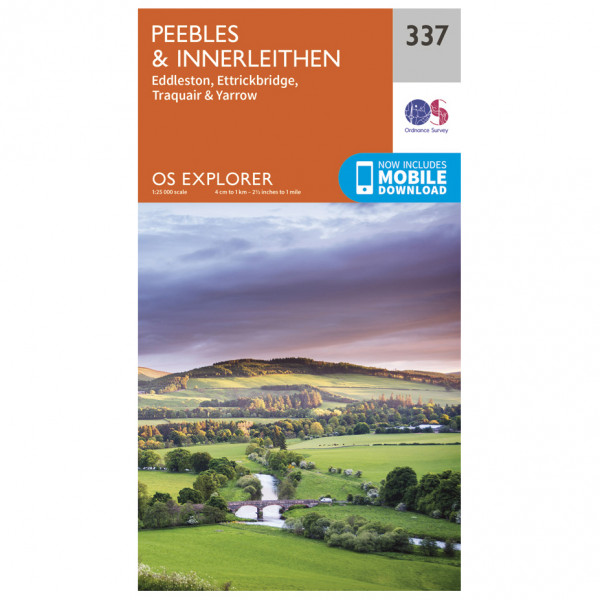 Ordnance Survey - Peebles / Interleithen - Vandrekort