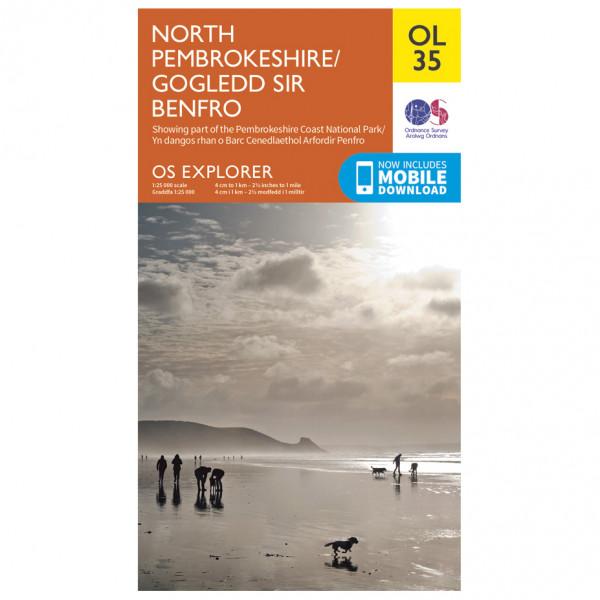 Ordnance Survey - Pembrokeshire North / Gogledd Sir Benfro Outdoor - Mapa de senderos