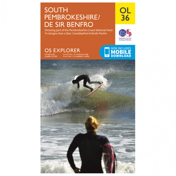 Ordnance Survey - Pembrokeshire South / De Sir Benfro Outdoor - Hiking map