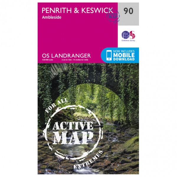 Ordnance Survey - Penrith / Keswick Waterproof - Vandrekort