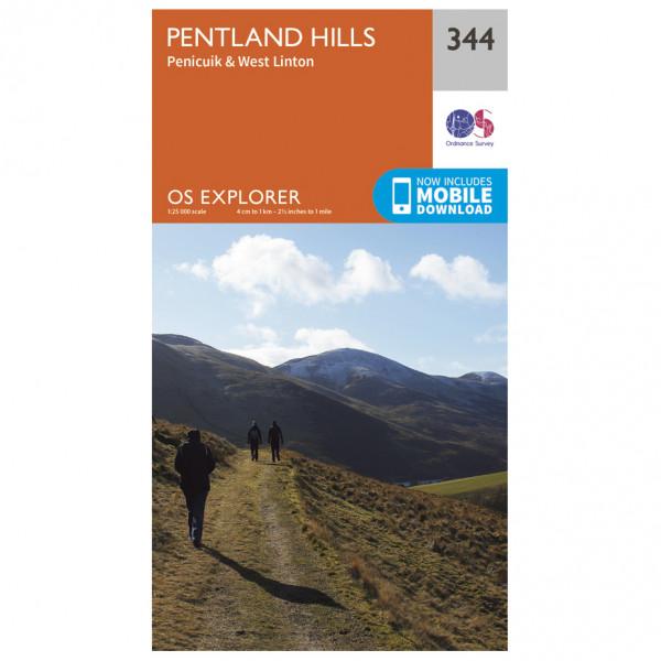 Ordnance Survey - Pentland Hills - Vaelluskartat