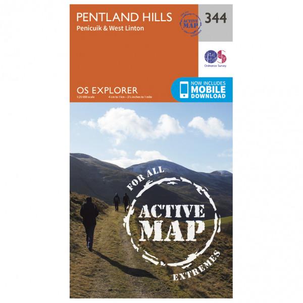 Ordnance Survey - Pentland Hills Waterproof - Mapa de senderos