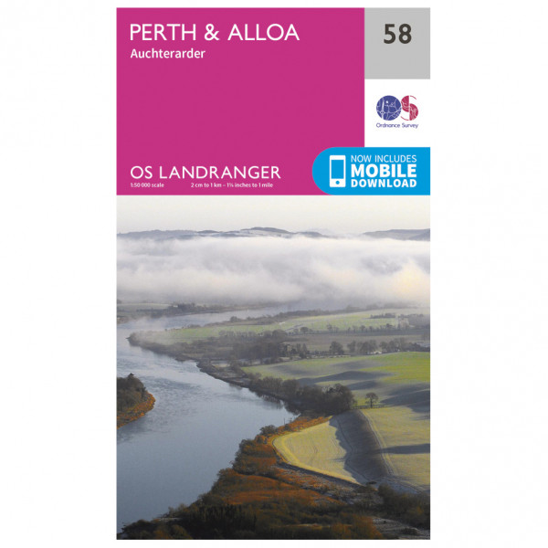 Ordnance Survey - Perth / Alloa - Vaelluskartat