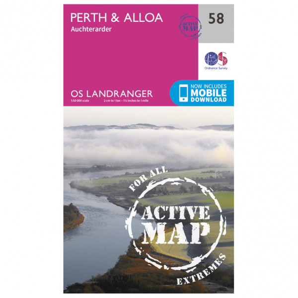 Ordnance Survey - Perth / Alloa Waterproof - Vandringskartor