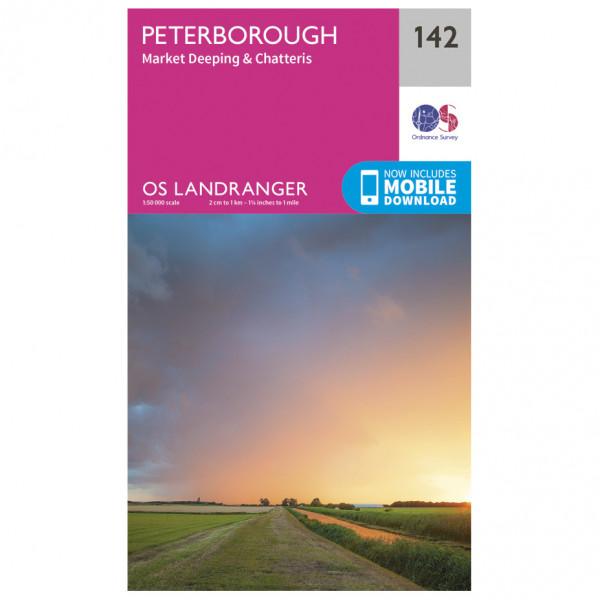 Peterborough / Market Deeping / Chatteris - Hiking map