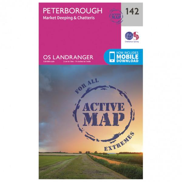 Ordnance Survey - Peterborough / Market Deeping Waterproof - Hiking map