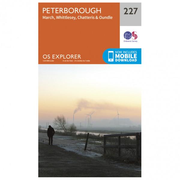 Ordnance Survey - Peterborough/March/Whittlesey/Chatteris/Oundle - Mapa de senderos