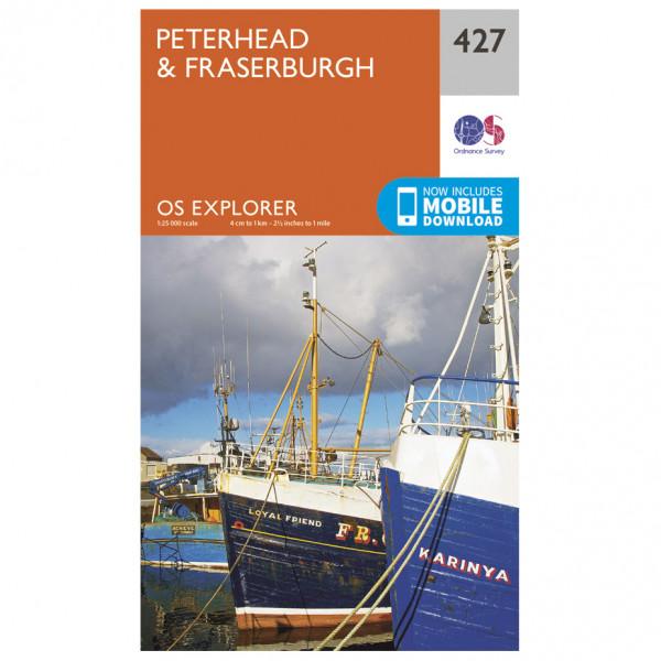 Ordnance Survey - Peterhead / Fraserburgh - Vandrekort