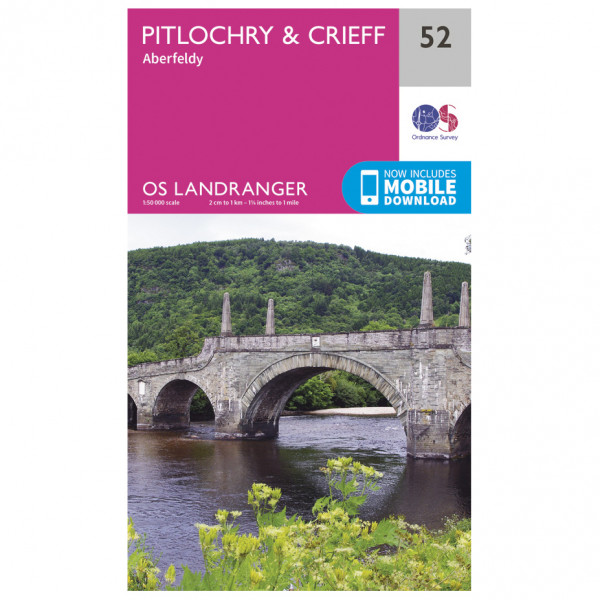 Ordnance Survey - Pitlochry / Crieff - Hiking map