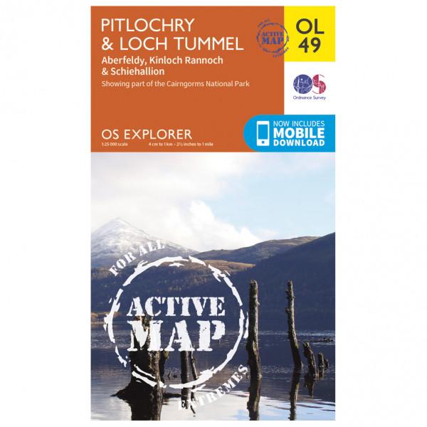 Ordnance Survey - Pitlochry / Loch Tummel Waterproof - Hiking map
