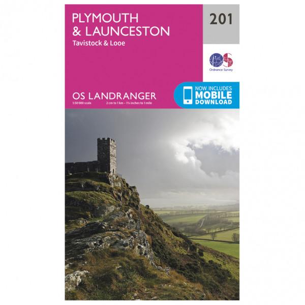 Ordnance Survey - Plymouth / Launceston - Hiking map