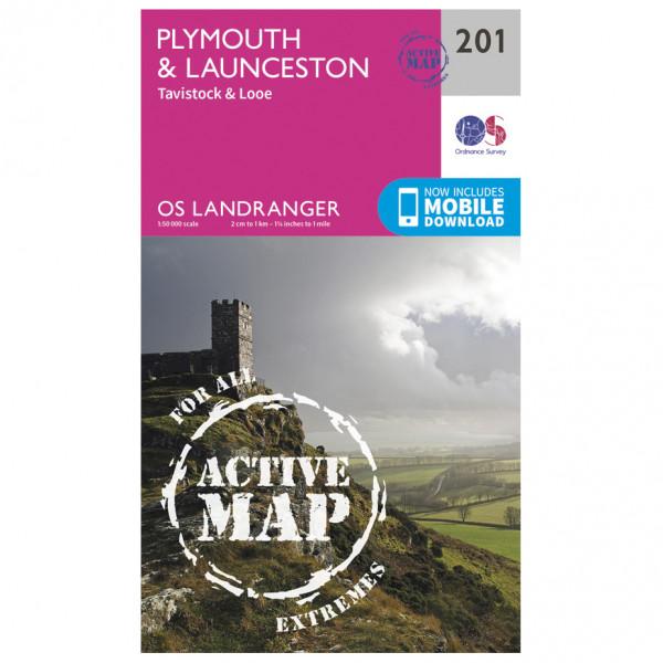 Ordnance Survey - Plymouth / Launceston Waterproof - Hiking map