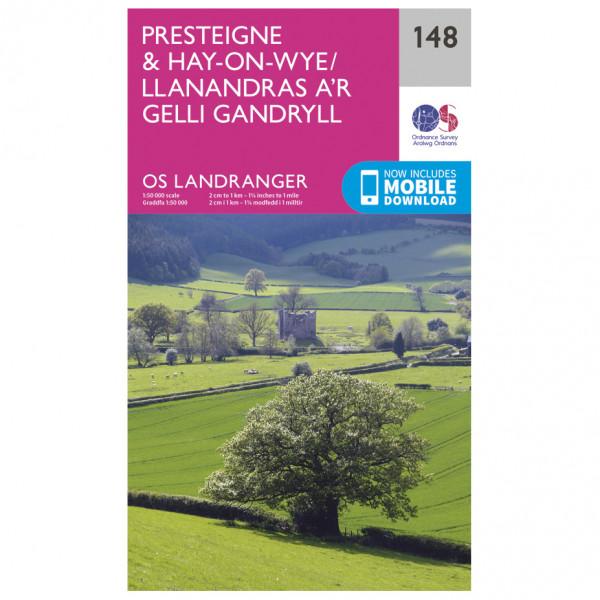 Ordnance Survey - Presteigne / Hay-On-Wye - Vandrekort
