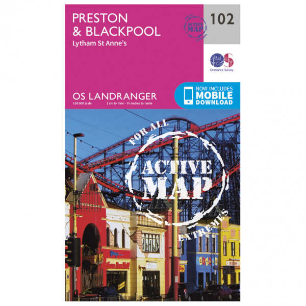 Ordnance Survey - Preston & Blackpool, Lytham Waterproof - Mapa de senderos