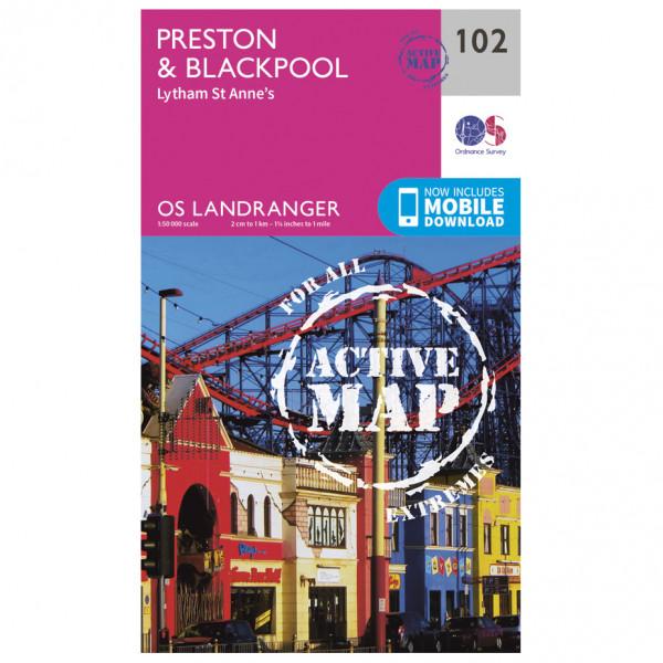 Ordnance Survey - Preston & Blackpool, Lytham Waterproof - Vandringskartor