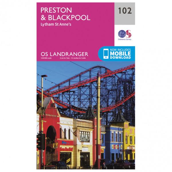 Ordnance Survey - Preston / Blackpool - Wandelkaart
