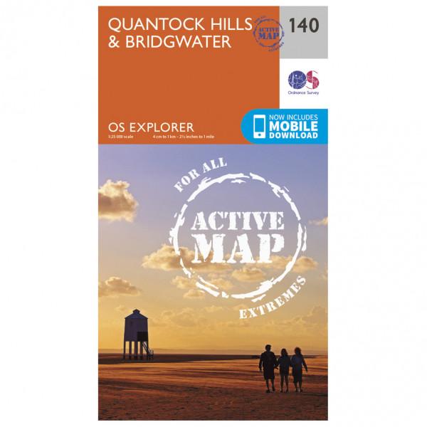 Ordnance Survey - Quantock Hills / Bridgwater Waterproof - Vandrekort