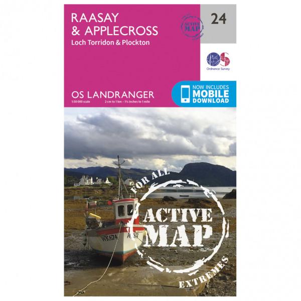 Ordnance Survey - Raasay / Applecross Waterproof - Hiking map