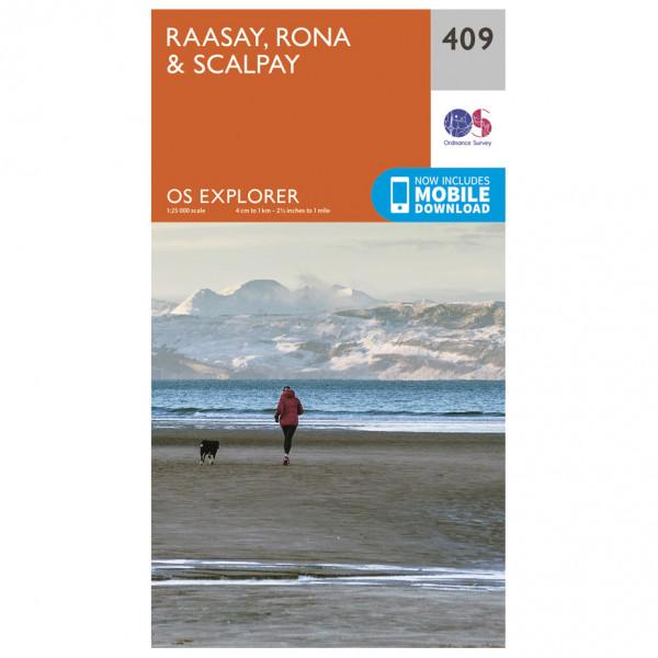 Ordnance Survey - Raasay / Rona / Scalpay - Vaelluskartat