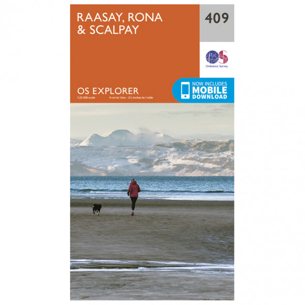 Ordnance Survey - Raasay / Rona / Scalpay - Vandrekort