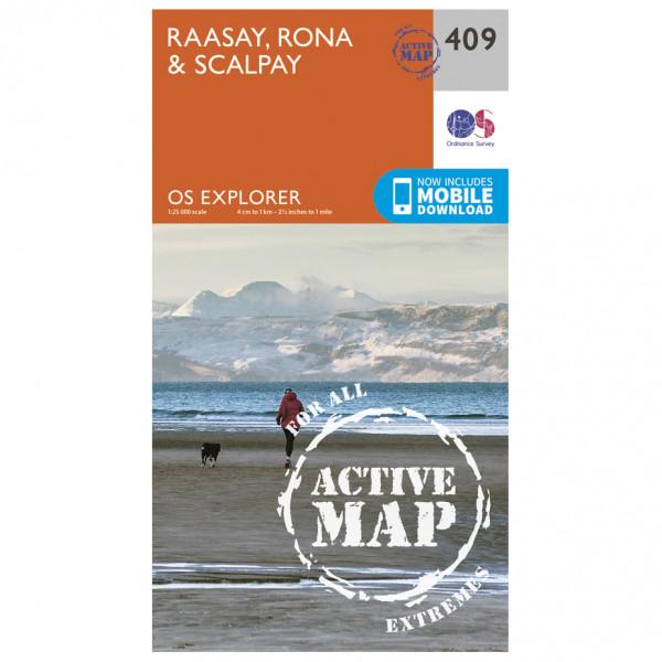 Ordnance Survey - Raasay / Rona / Scalpay Waterproof - Mapa de senderos