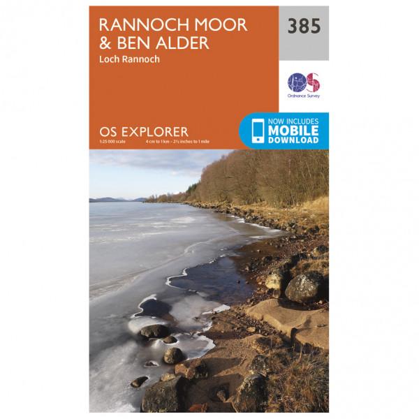 Ordnance Survey - Rannoch Moor / Ben Alder - Wandelkaart
