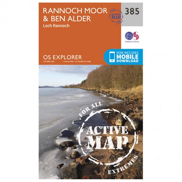 Ordnance Survey - Rannoch Moor / Ben Alder / Loch Rannoch Waterproof EXPL385 - Wanderkarte