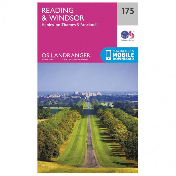 Ordnance Survey - Reading / Windsor / Henley-On-Thames / Bracknell - Vandringskartor