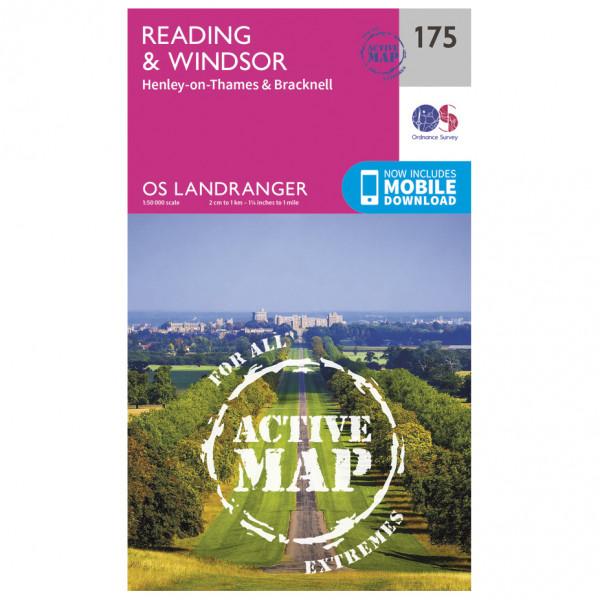 Ordnance Survey - Reading / Windsor / Henley-On-Thames Waterproof - Hiking map