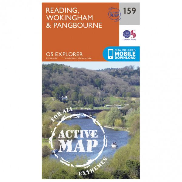 Ordnance Survey - Reading / Wokingham / Pangbourne Waterproof - Hiking map