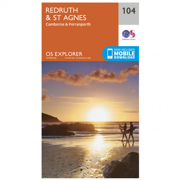 Ordnance Survey - Redruth / St Agnes - Carta escursionistica
