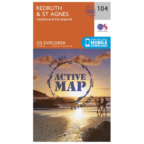 Ordnance Survey - Redruth / St Agnes Waterproof - Vaelluskartat