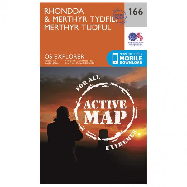 Ordnance Survey - Rhondda / Merthyr / Merthyr Tudful Waterproof - Wandelkaarten