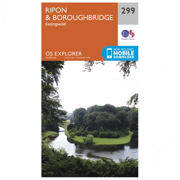 Ordnance Survey - Ripon / Boroughbridge EXP299 - Wanderkarte