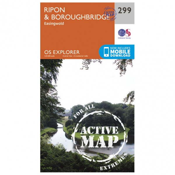 Ordnance Survey - Ripon / Boroughbridge Waterproof - Vandrekort