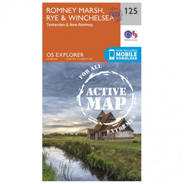 Ordnance Survey - Romney Marsch / Rye / Winchelsea Waterproof EXPL125 - Wanderkarte