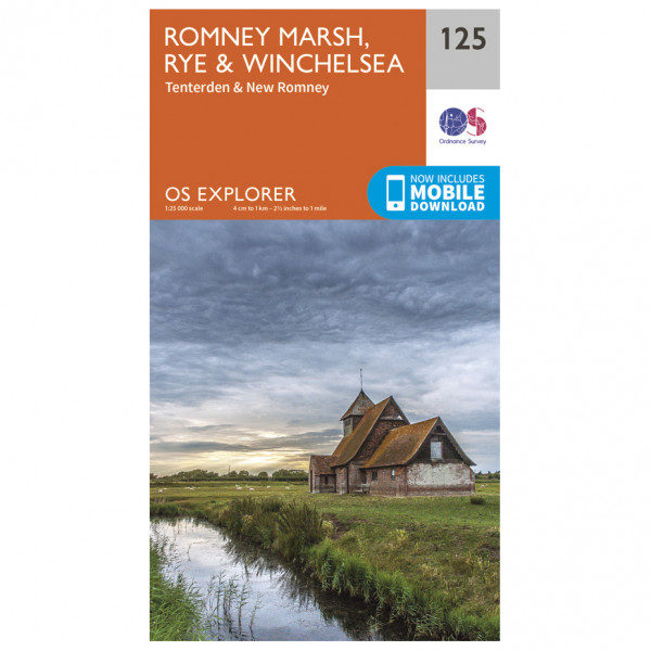 Ordnance Survey - Romney Marsh / Rye / Winchelsea - Hiking map