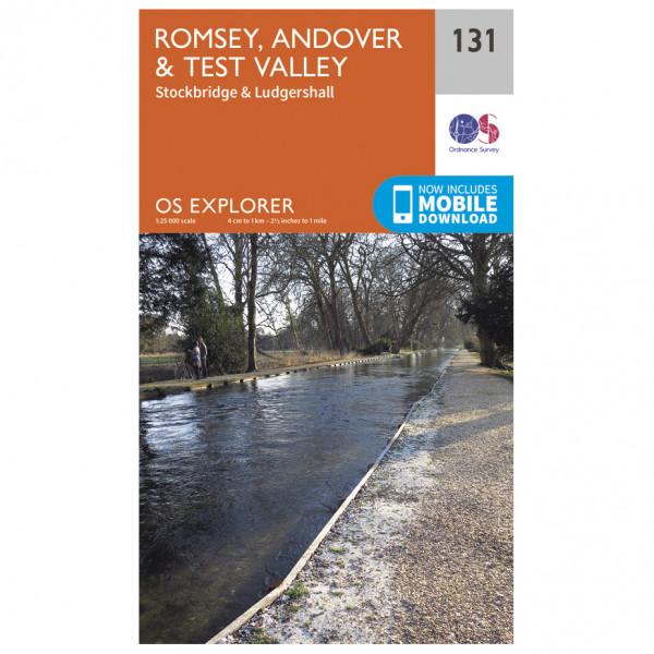 Ordnance Survey - Romsey / Andover / Test Valley EXP131 - Wanderkarte