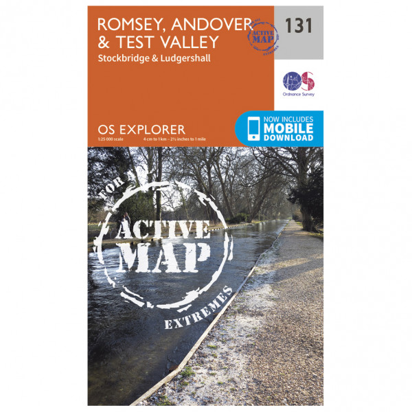 Ordnance Survey - Romsey / Andover / Test Valley Waterproof - Hiking map
