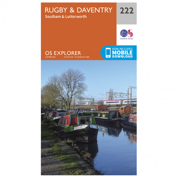 Ordnance Survey - Rugby / Daventry - Hiking map