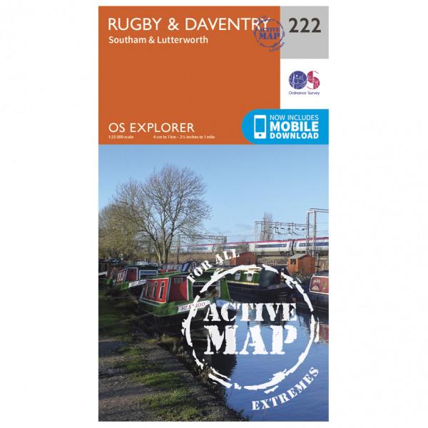 Ordnance Survey - Rugby / Daventry / Southam / Lutterworth Waterproof - Vandrekort